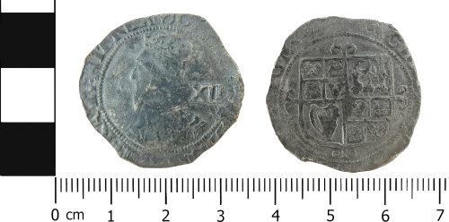 LVPL-3D55A3: Post-medieval shilling of Charles I
