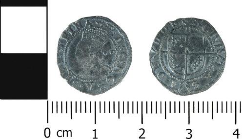 LVPL-3DD50E: Post-medieval halfgroat of Elizabeth I