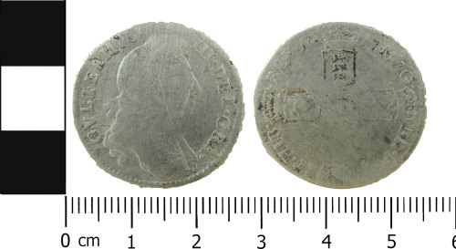 LVPL-3EA881: Post-medieval sixpence of William III