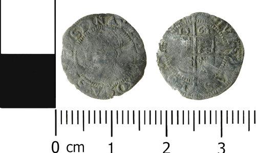 LVPL-45DAE4: Post medieval threehalfpence of Elizabeth I