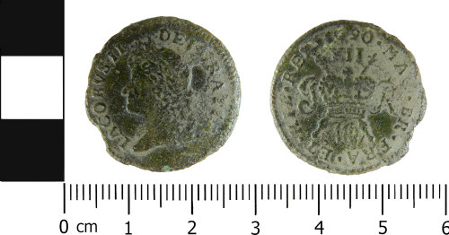 LVPL-499924: Post-medieval shilling of James II