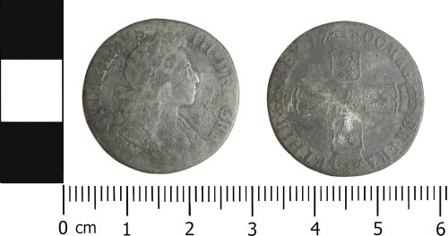 LVPL-4CEA5B: Post-medieval shilling of William III