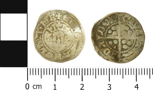 LVPL-51F64F: Medieval penny of Edward I
