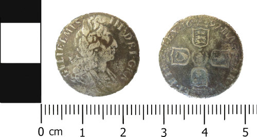 LVPL-5CDC72: Post-medieval sixpence of William III