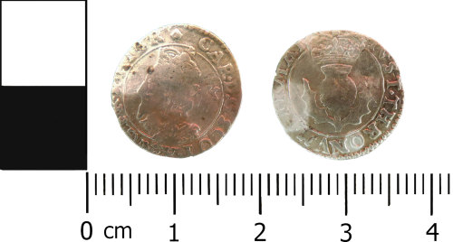 LVPL-5D7F4F: Post medieval Scottish twentypence of Charles I