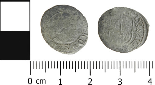 LVPL-64C38D: Post-Medieval silver halfgroat of Elizabeth I