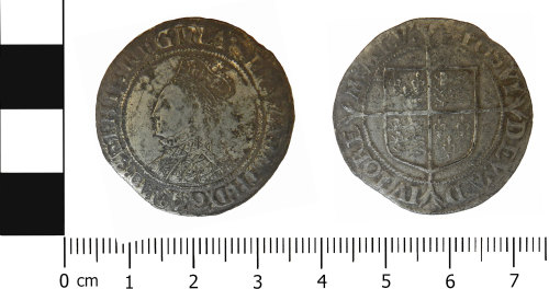 LVPL-6F4DD1: Post medieval shilling of Elizabeth I