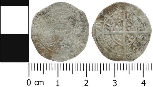 LVPL-704767: Medieval halfgroat of Henry VI