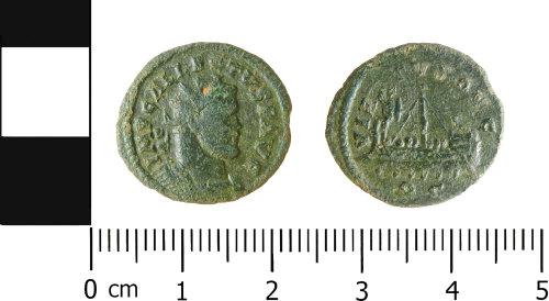 LVPL-81B720: Roman radiate of Allectus