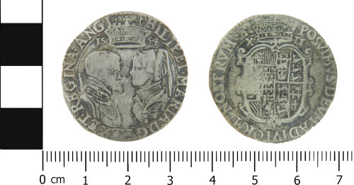 LVPL-8C146D: Post-medieval shilling of Philip and Maria