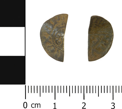 A resized image of Medieval cut halfpenny