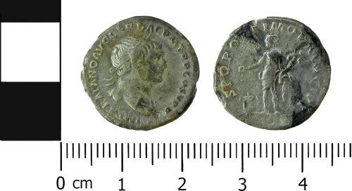 LVPL-96B5EE: Roman denarius of Trajan