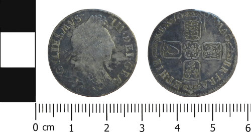 LVPL-9DC5DD: Post-Medieval shilling of William III