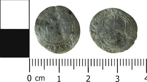 LVPL-A5A2EA: Post-medieval halfgroat of Elizabeth I