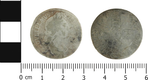 LVPL-B2ED11: Post-medieval shilling of William III