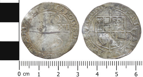 LVPL-C8FED5: Post-Medieval shilling of Charles I