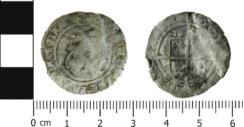 LVPL-CBC842: Post-medieval sixpence