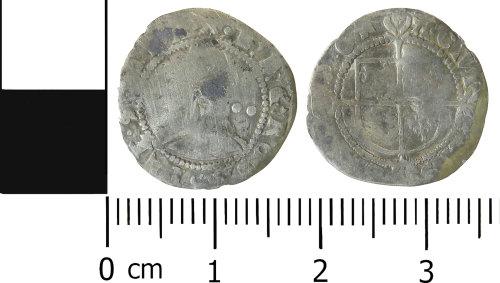 LVPL-FC6DED: Post-medieval halfgroat of Elizabeth I