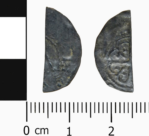 LVPL-322445: Medieval cut half penny of Stephen