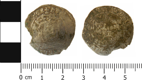 LVPL-FE2D9D: Post medieval groat of Henry VIII DC