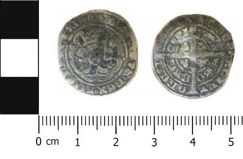 LVPL-D6C43C: Medieval halfgroat of Edward III