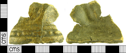 LVPL-3E3196: Lead fragment, possibly dating to the Medieval or Post-Medieval period of uncertain function.