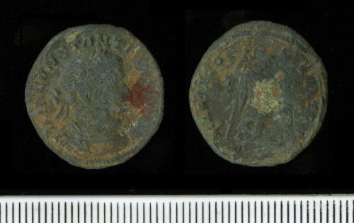 A resized image of Copper-alloy nummus of Constantine I