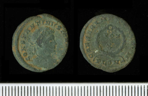 PAS-13A512: Copper-alloy nummus of Constantine II as Caesar