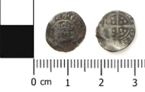 A resized image of Medieval coin; a farthing of Edward III