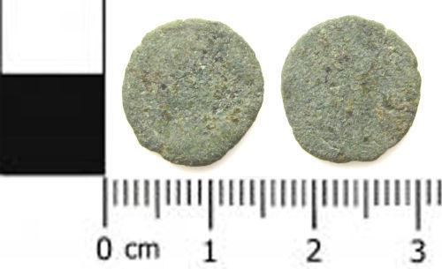 SWYOR-7F4A47: a Roman coin: a nummus of the House of Constantine