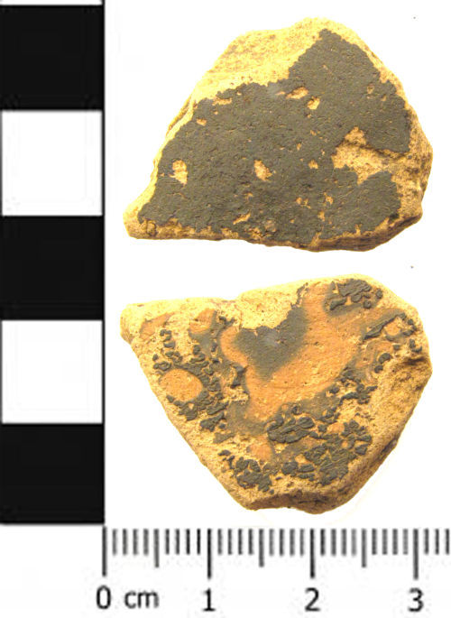 A resized image of a Roman pottery vessel fragment