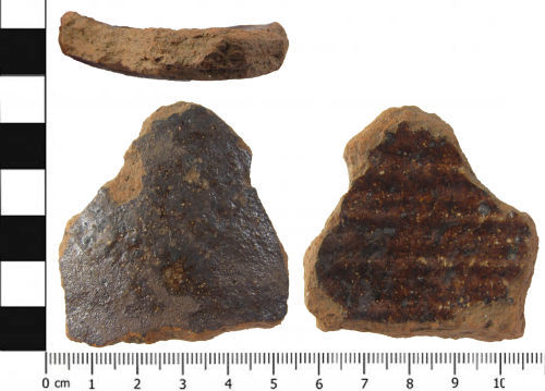 A resized image of a shard of post-Medieval pottery