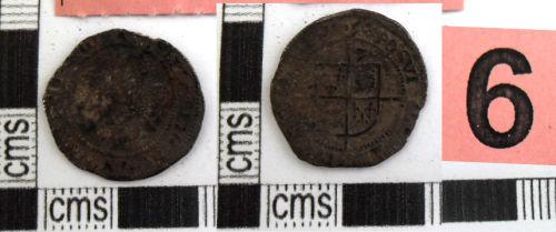 SWYOR-7061D9: A second issue threepence of Elizabeth I