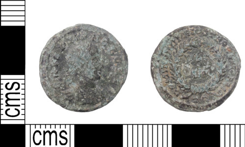 KENT-80A75A: Crispus Nummi Ticinum Mint