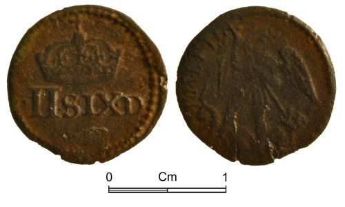 NMGW-DBA71E: Post Medieval Coin Weight: English, from the time of Charles I for a quarter-angel of Elizabeth,