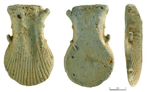 NMGW-364EE5: Medieval pilgrim's ampulla of 14th to 16th century date