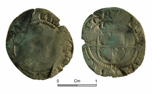 NMGW-DCC724: Post medieval coin: Elizabeth I, threepence, London