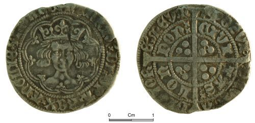 NMGW-49CF8F: Medieval Coin: Henry VI, groat, London mint; annulets issue