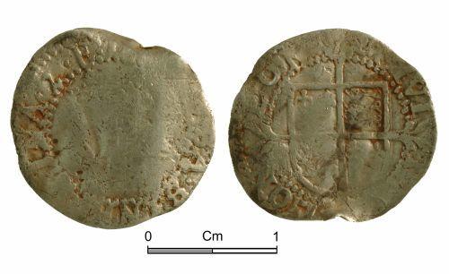 NMGW-F34469: Post medieval coin: Elizabeth I, half groat, London