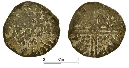 NMGW-5D126C: Medieval coin: Henry III, 'Long Cross' penny