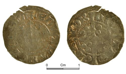 NMGW-5D8383: Medieval coin: Edward II, penny, Canterbury