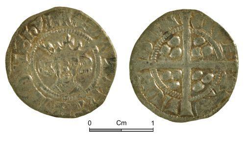 NMGW-5D9A2D: Medieval coin: Edward II, penny, London