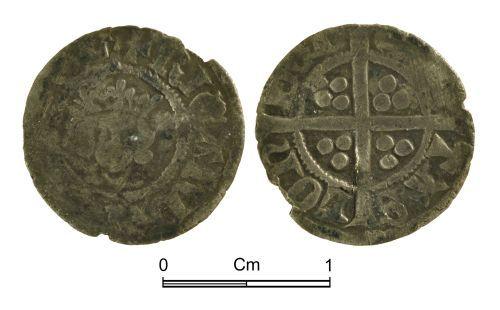 NMGW-5DAC69: Medieval coin: Richard II, halfpenny, London