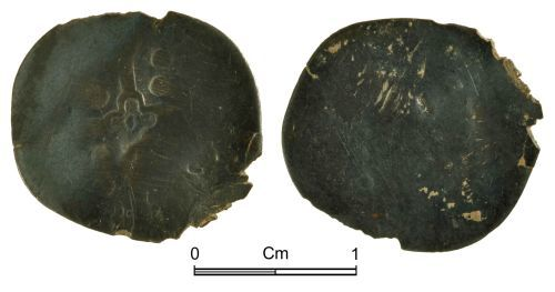 NMGW-5DBC39: Medieval coin: Probably a heavily worn York penny, possibly of Edward III