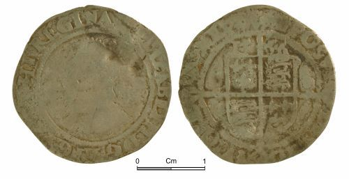 NMGW-5DDD5C: Post medieval coin: Elizabeth I, sixpence, London