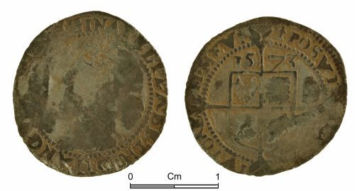 NMGW-5DED41: Post medieval coin: Elizabeth I, threepence, London