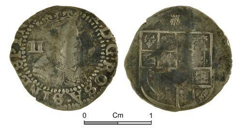 NMGW-5E517B: Post medieval coin: James I, half groat, London