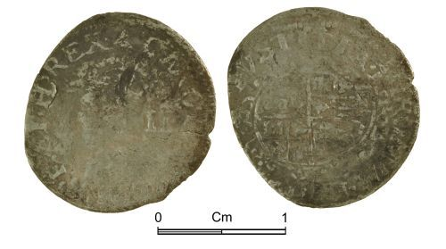 NMGW-5E6292: Post medieval coin: Charles I, half groat, London