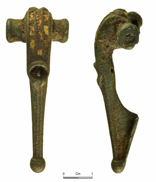 NMGW-705B58: Roman bow brooch of Polden Hill / T-shaped type
