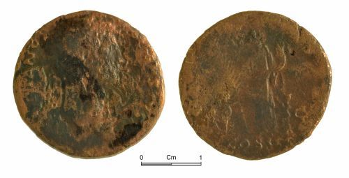 NMGW-708BF0: Roman coin: Hadrian, dupondius, Rome